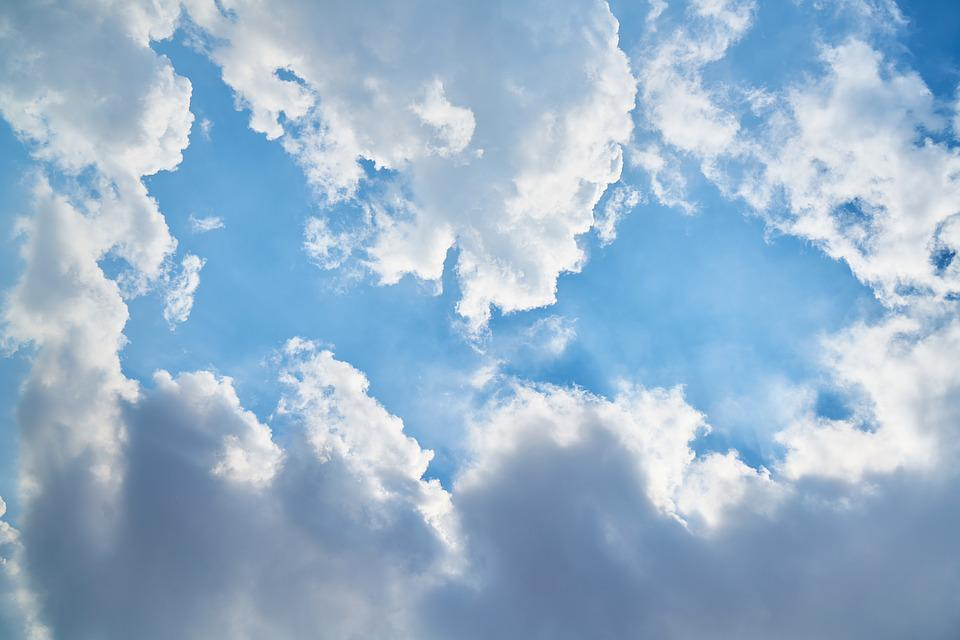 Cloud, Blue, Sunset, Background, Composition, Space