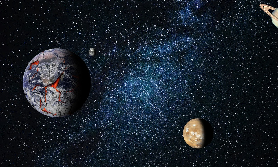 Astronomy, Moon, Planet, Space, Desktop