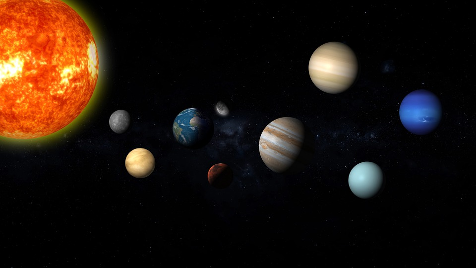 Solar System, Space, Planets, Mars, Globe, Earth, Moon