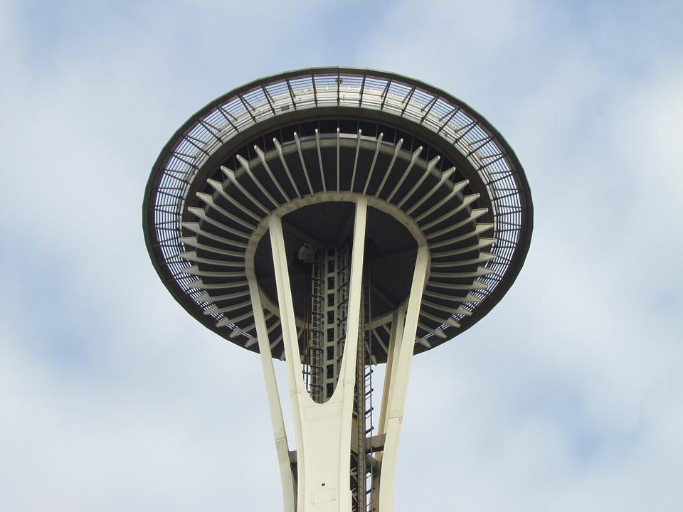 Space Needle, Seattle, Revolving Restaurant, Sk, View