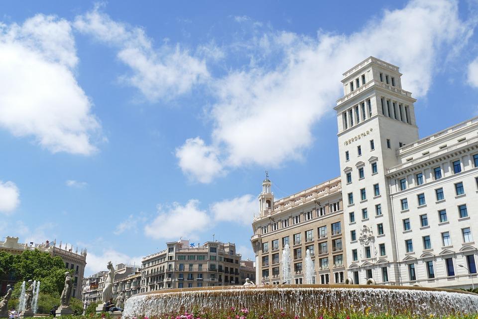 Barcelona, Plaça De Catalunya, Spain, Catalonia, Space