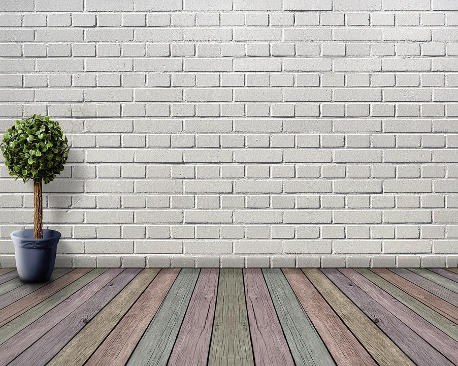 Space, Empty, Wood Floor, Plant, Flowerpot, Boxwood