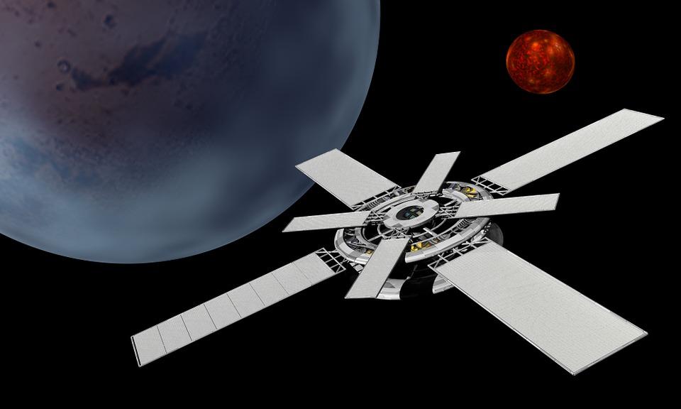 Satellite, Solar Panels, Space, Technology