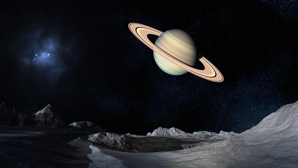 Space, Saturn, Science Fiction, Landscape