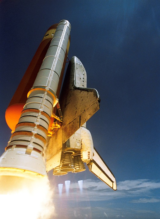Space Shuttle, Start, Discovery, Spaceport