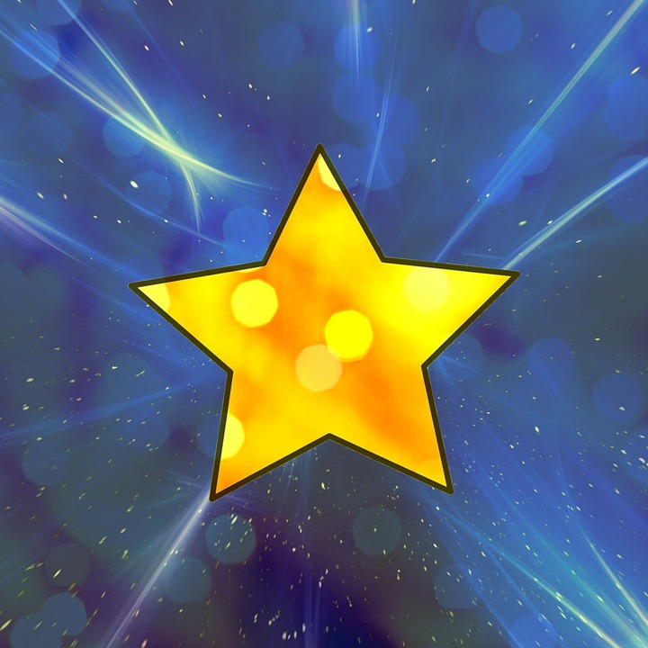 Star, Space, Bright, Transparent