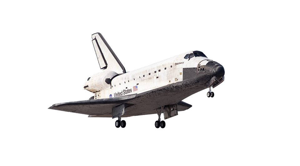 Spaceship, Space Shuttle, Nasa, Isolated