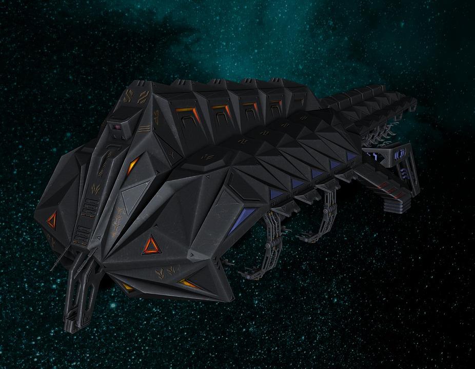 Spaceship, Space, Forward, Space Travel, Futuristic