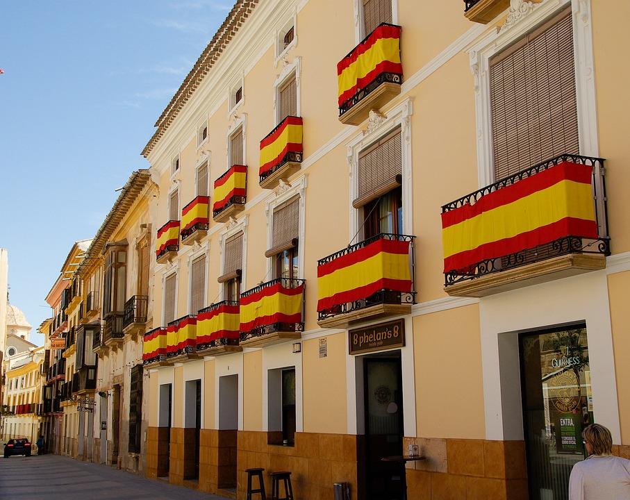 Spain, Lorca, Narrow Lane, Architecture, Andalusia