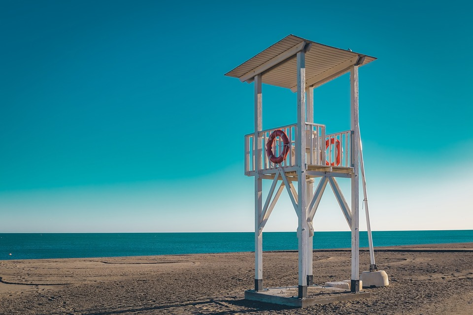 Safeguard, Tower, Beach, Ocean, Spain, Andalusia