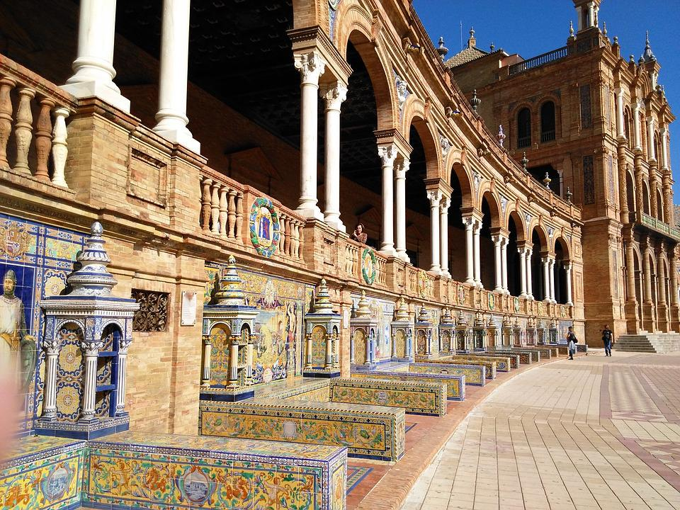 Seville, Spain Square, Andalusia, Architecture, Spain