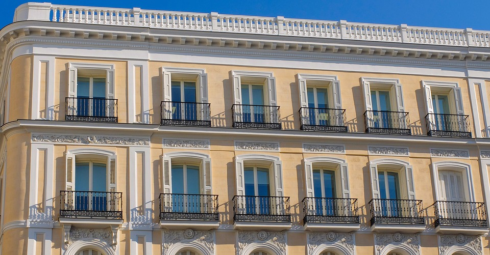 Spain, Madrid, Building, Architecture, Facade