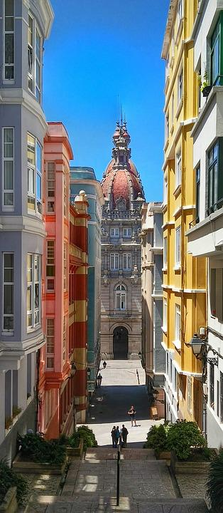 Coruna, Spain, Ar, Architecture, Stonework, Travel