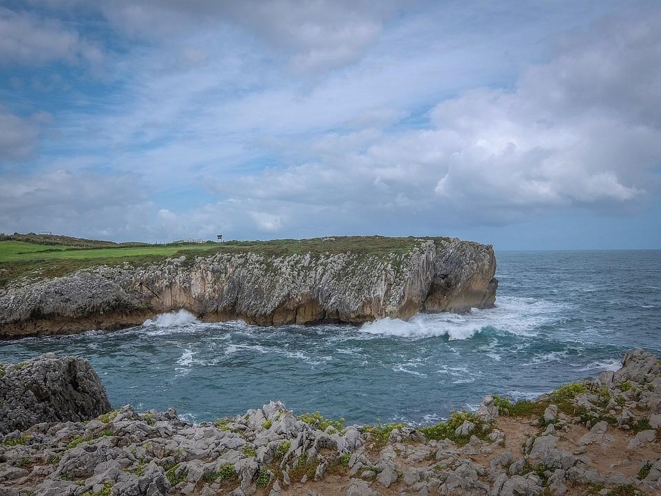 Cliff, Asturias, Sea, Spain, Landscape, Nature, Water
