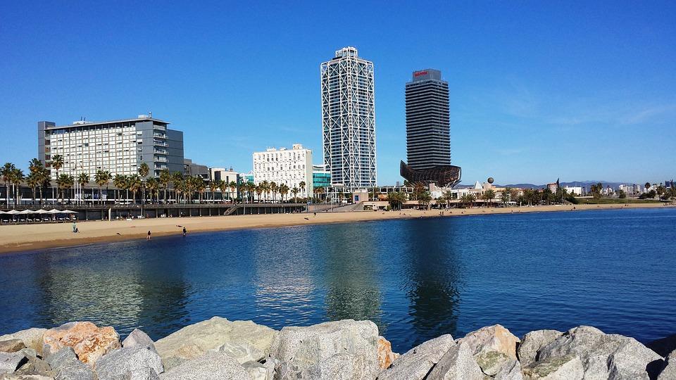 Spain, Barcelona, Barceloneta, Beach