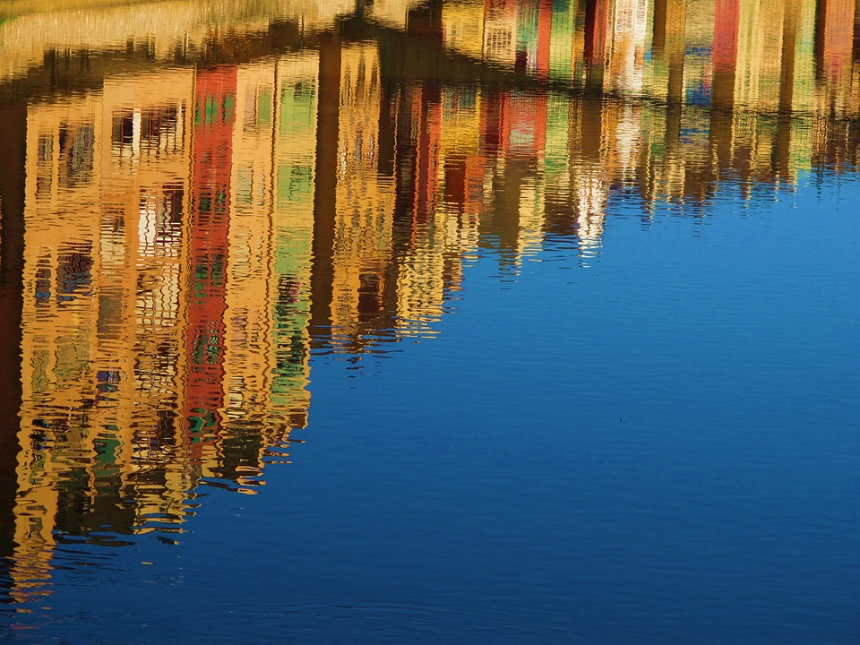 Reflection, Water, Canal, Mirroring, Travel, Spain