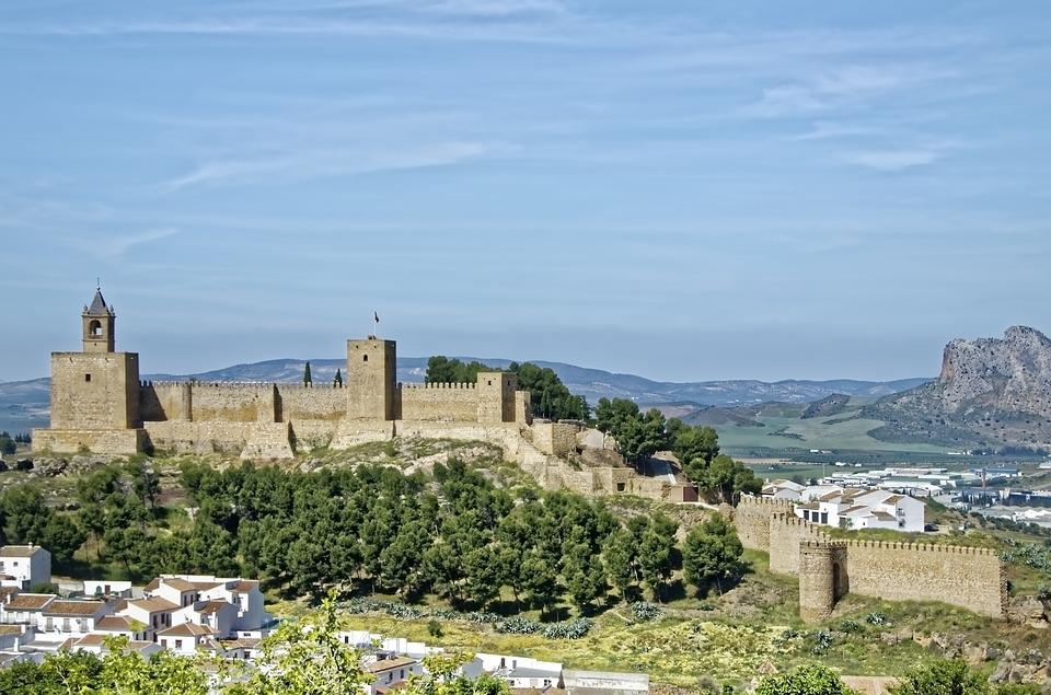 Spain, Antequera, Fortress Hill, Fortress, Castle