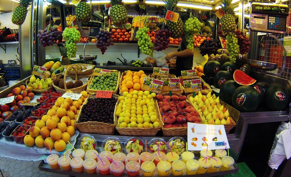 Valence, Spain, Central Market, Region Of Valencia