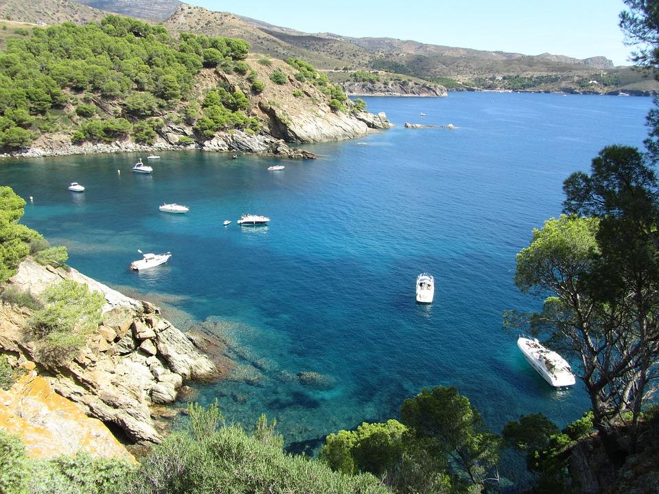Sea, Landscape, Water, Nature, Coast, Spain