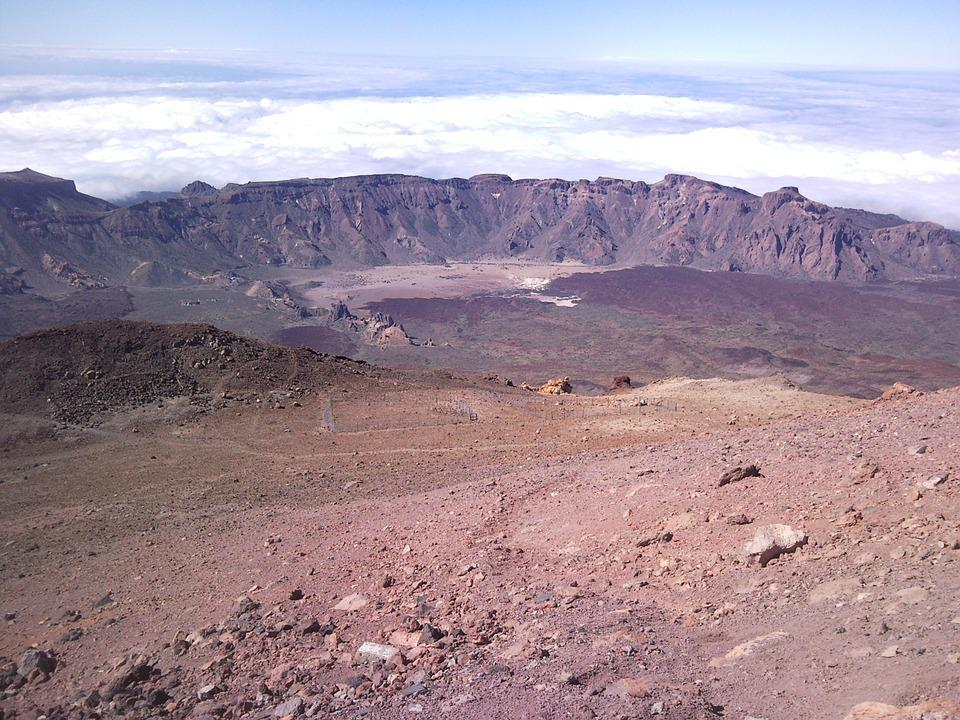 Teide, Volcano, Crater, Spain, Cladera