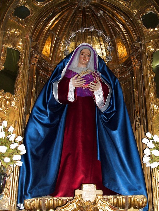 Spain, Church, Interior, Faith, Religion, Mary