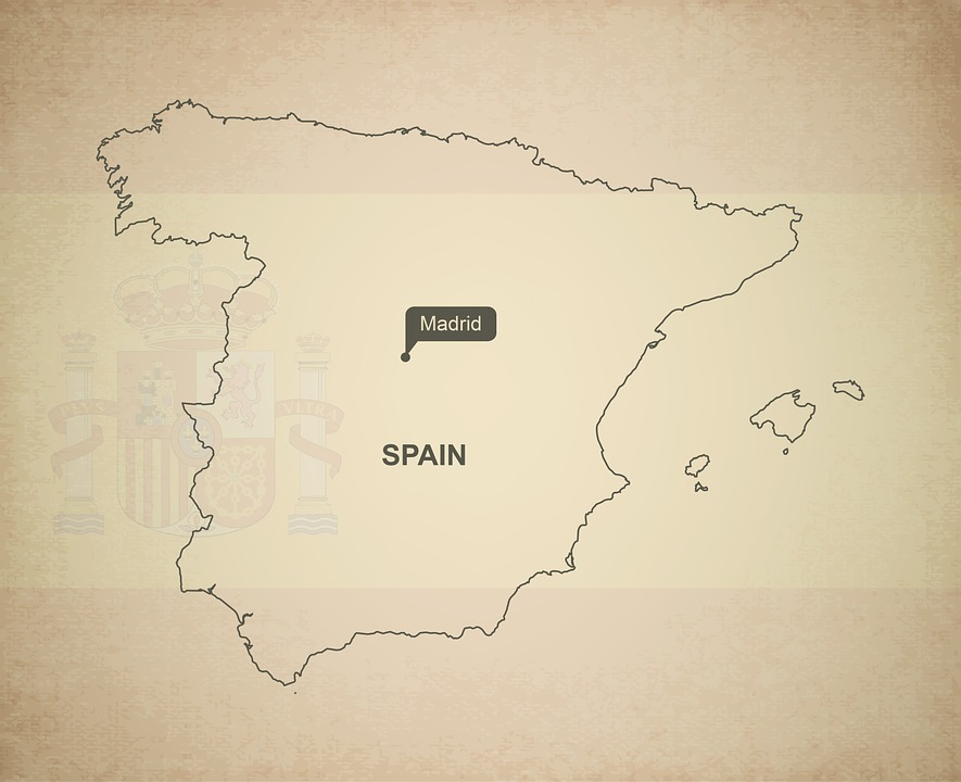 Map Of Spain In Europe.Free Photo Spain Geography Europe Maps Outline Country Map Max Pixel