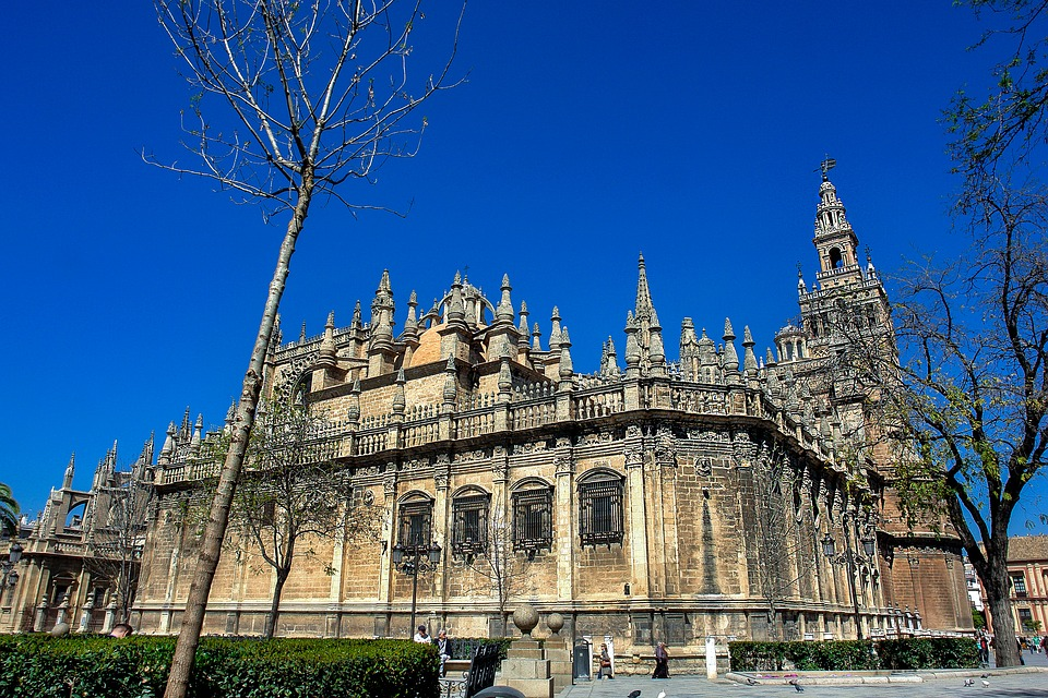 Giralda, Cathedral, Seville, Spain, Monuments
