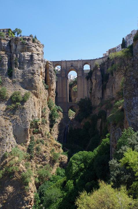 Ronda, Bridge, Gorge, Abyss, Spain, Andalusia