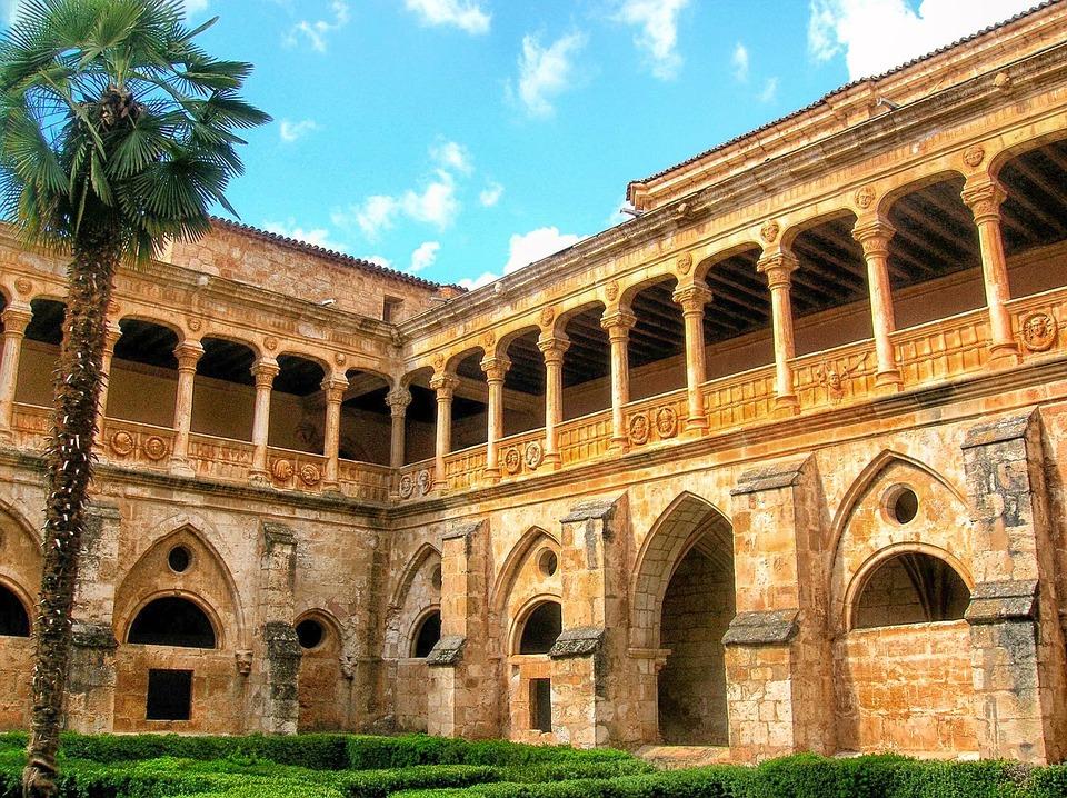 Soria, Spain, Monastery, Building, Landmark, Sky