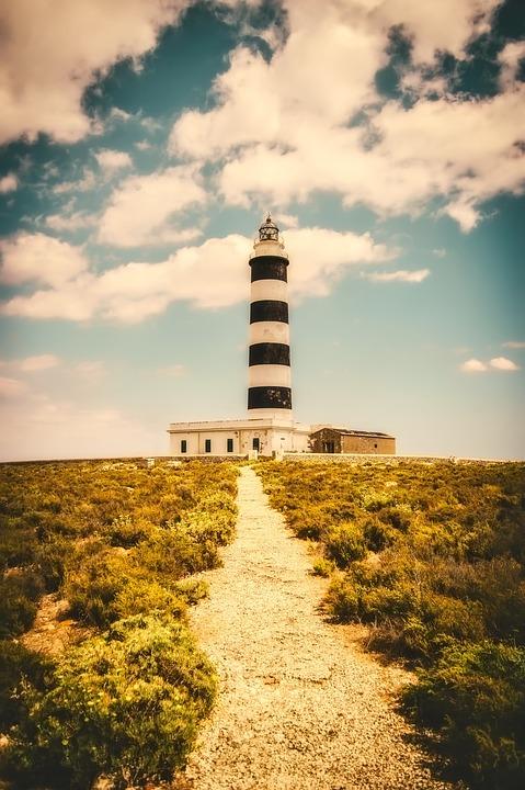 Minorca, Spain, Landscape, Lighthouse, Path, Trail