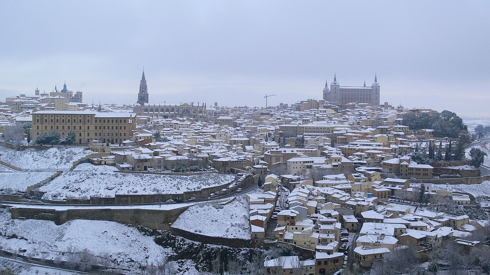 Spain, Madrid, Old City, Toledo, Architecture, Skyline