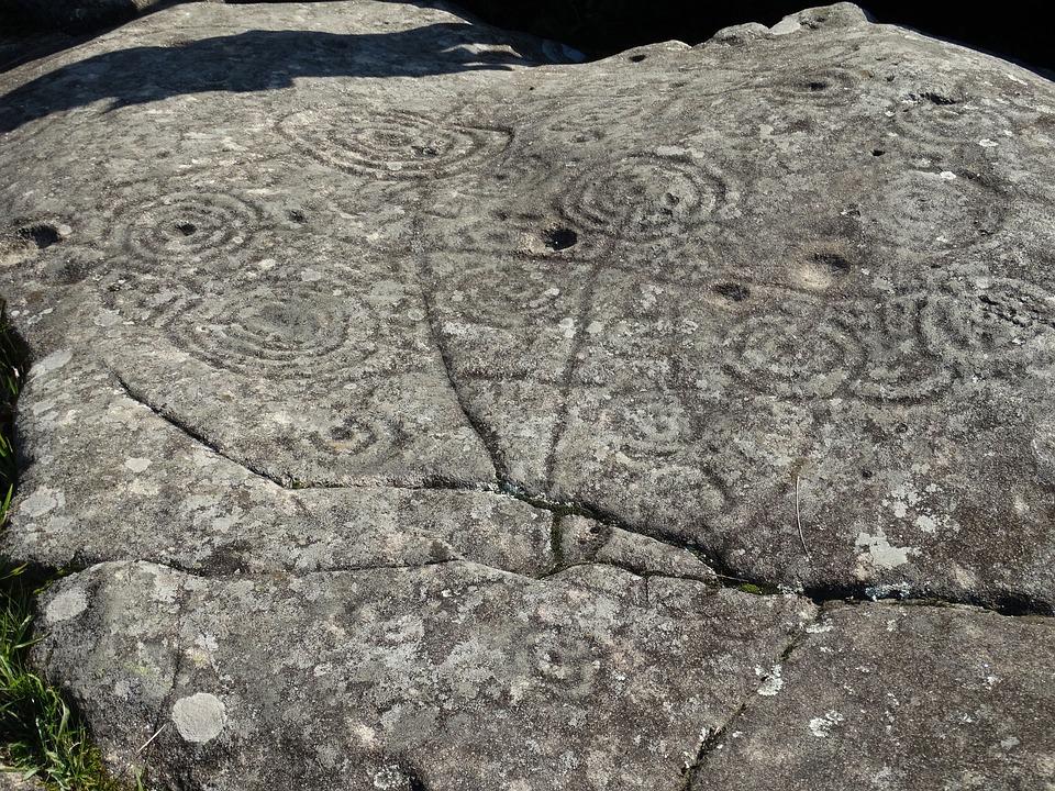 Petroglyphs, Mogor, Pontevedra, Galicia, Spain