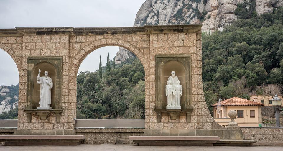 Montserrat, Monastery, Spain, Travel, Architecture