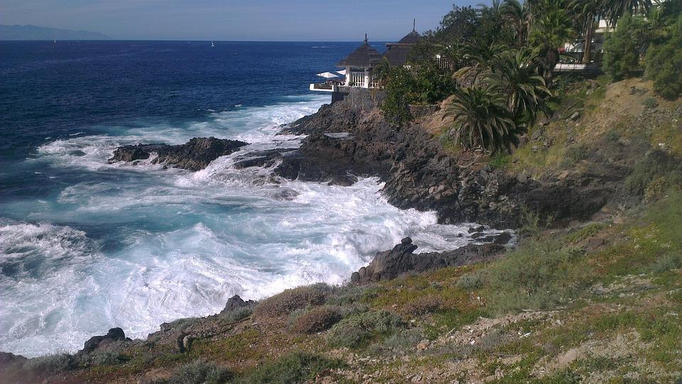 Ocean, Spain, Tenerife, Sea