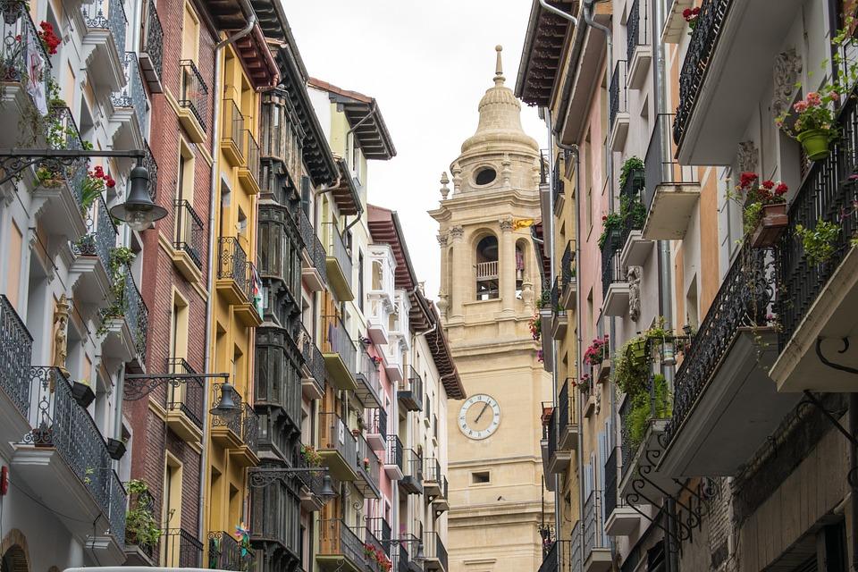 Spain, Santiago Path, Pamplona, Architecture, Buildings