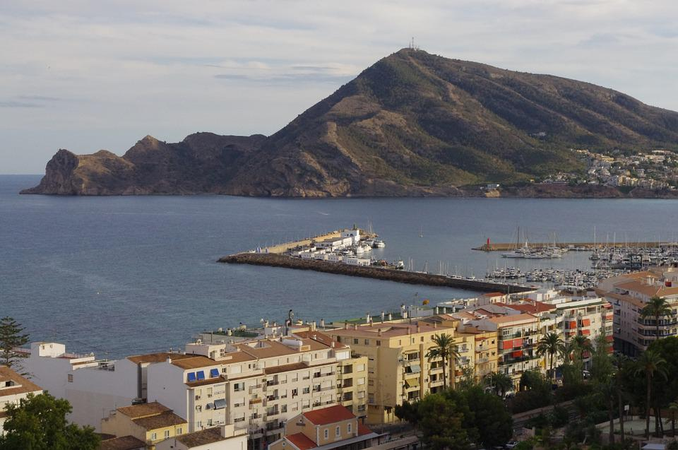 Landscape, Altea, Alicante, Port, Sea, Spain, Beach