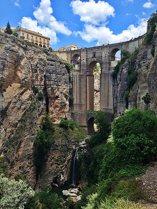 Ronda, Spain, Europe, Architecture, Bridge, Andalusia