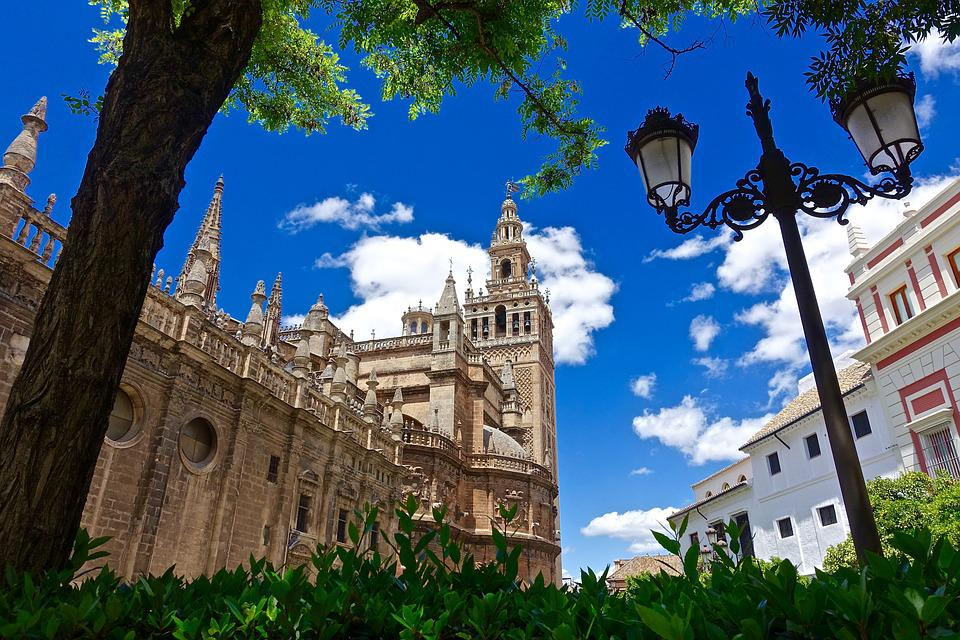 Church, Seville, Spain, Cathedral, Religious, Exterior
