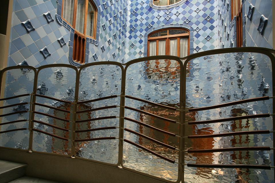 Barcelona, Gaudi, Architecture, Spain, Mosaic, Tiled