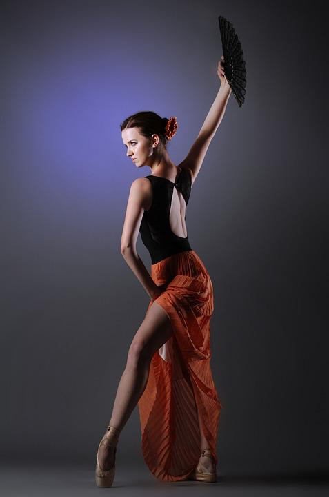 Woman, Spanish, Red Skirt, Ballet Dancer, Beauty