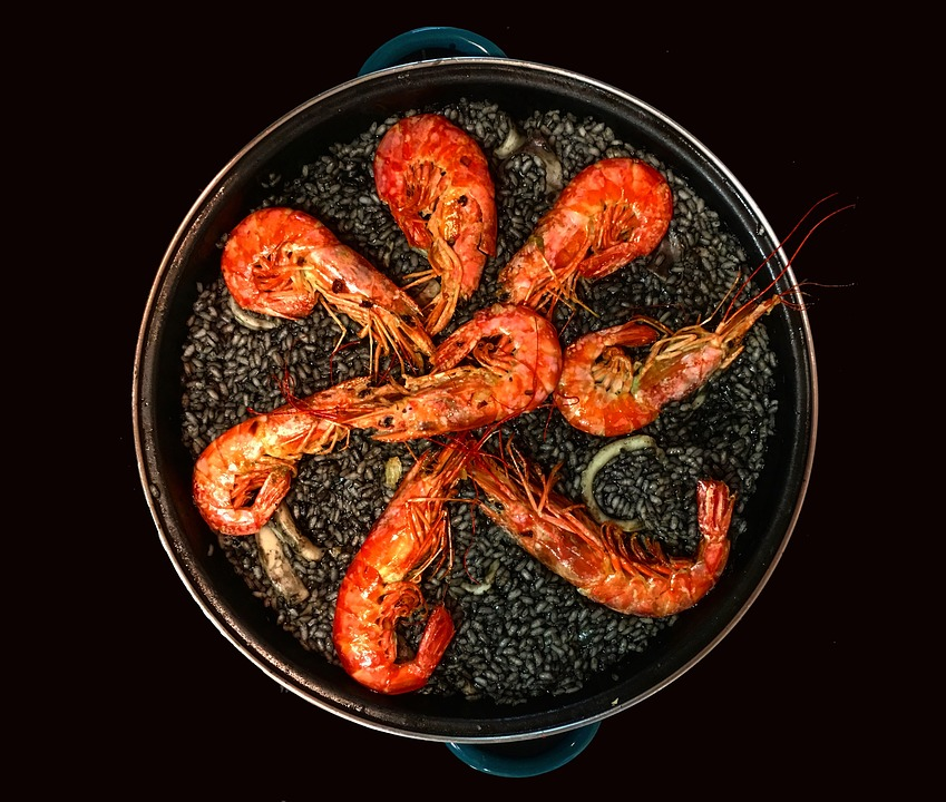 Paella, Black Rice, Spanish Cuisine, Rice, Spanish Food