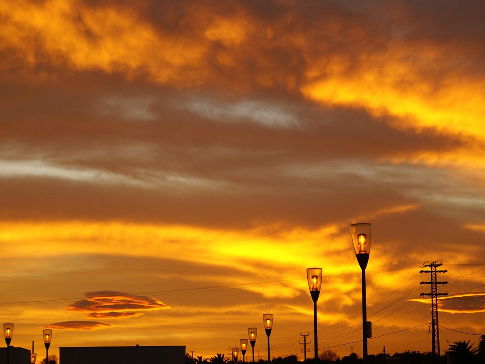 Sky, Sun, Sunset, Spain, Spanish, Espana, Fire, Clouds