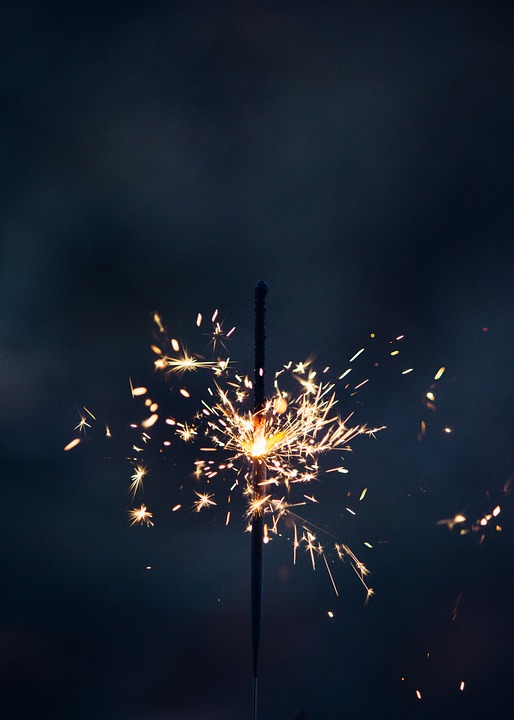 Sparkler, Sparkle, Glow, New Year's Eve, New Year's Day
