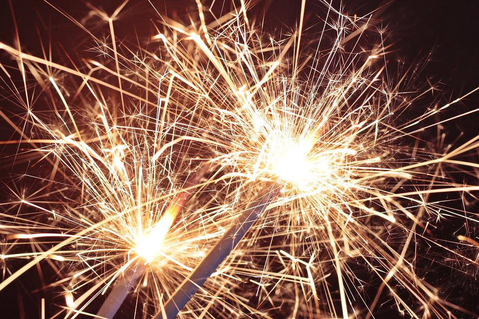 Sparkler, Star Fire, Sprühkerze, Star Thrower