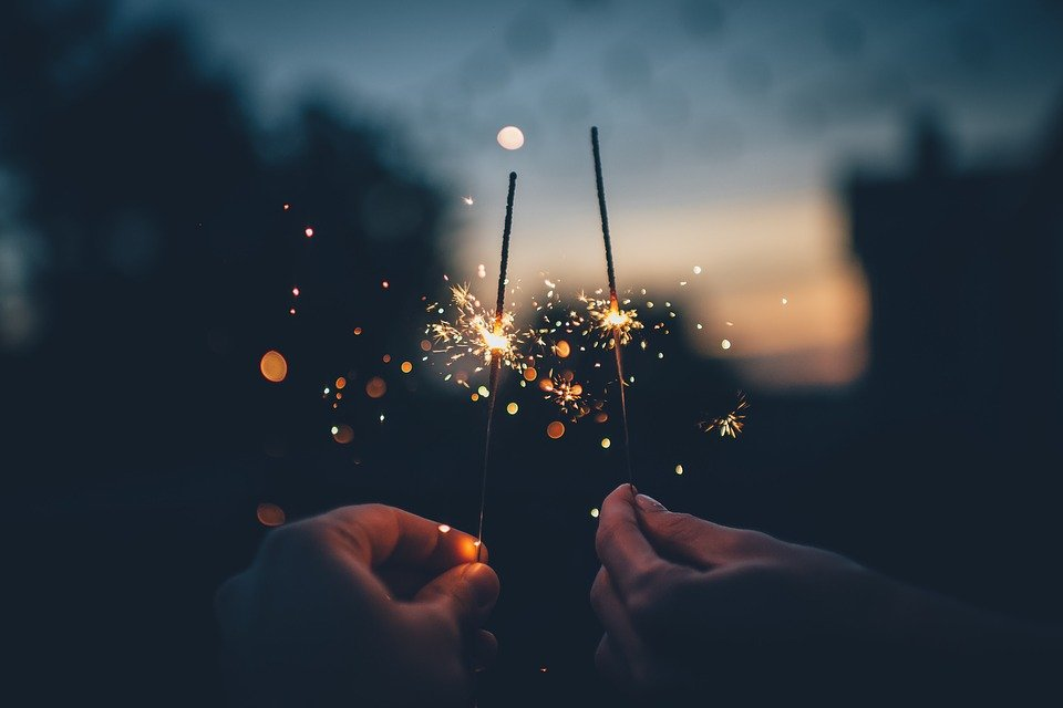 Dark, Fireworks, Hands, Lights, Macro, Sparklers