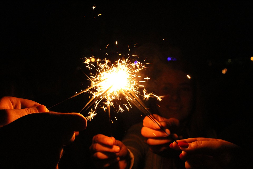 Radio, Sparklers, Hot, New Year's Eve, Mood, Light