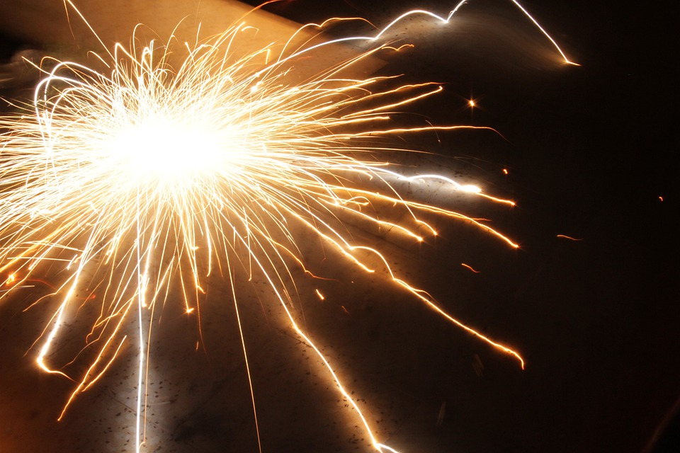 Fireworks, Sparks, Explosion, Holiday, Light
