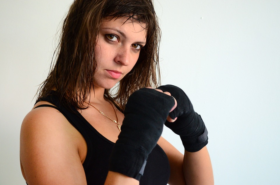 Girl, Sparring, Gloves, Sports, Boxing, Ring