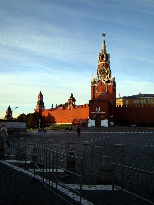 Spasskaya Tower, Kremlin Wall, Red Square, Moscow