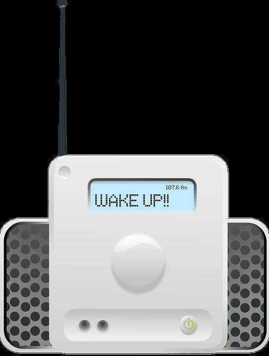 Radio, Clock, Speakers, Wake, Alarm, Screen